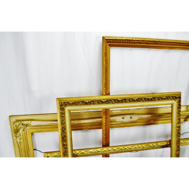 Vintage Large Wood Picture Frames - Group of 5 For Sale - Image 4 of 13