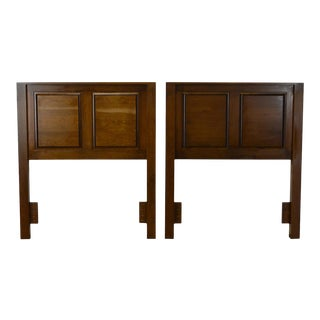 Restoration Hardware Chery Wood Raised Panel Twin Headboards - a Pair