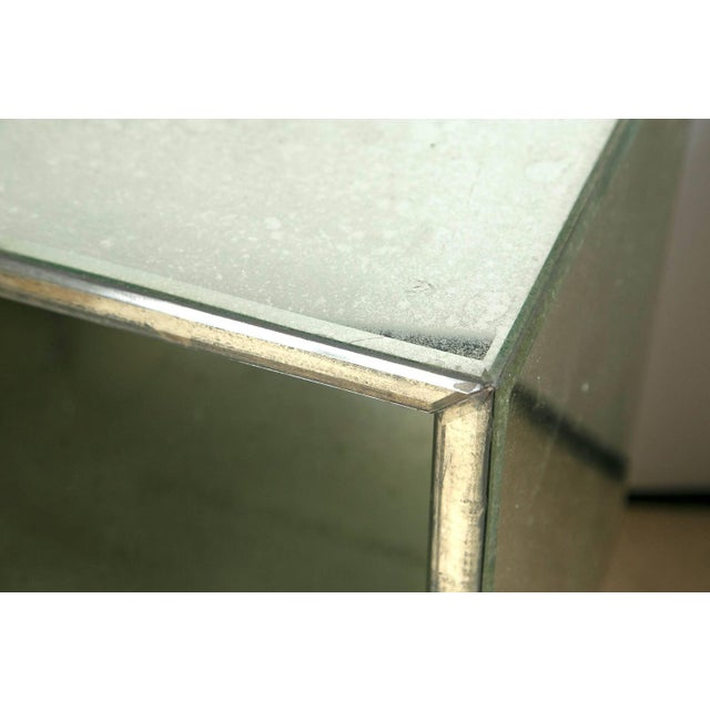 Petite Antiqued Mirrored Nightstands - A Pair - Image 2 of 7