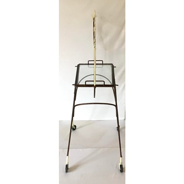 Metal 1950's Horse Pony Rolling Serving Bar Cart By Frederick Weinberg For Sale - Image 7 of 13