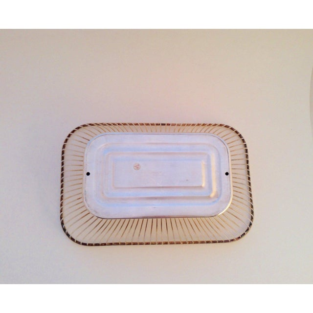1980s 1980s Mid-Century Modern Silverplate Wire Bread Basket For Sale - Image 5 of 6