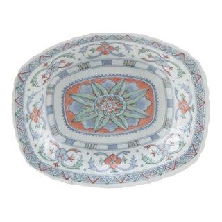 Ceramic Coral and Blue Decorative Platter