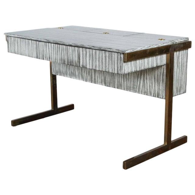 Customizable Paul Marra Writing, File Desk in Gray Zebra Finish For Sale