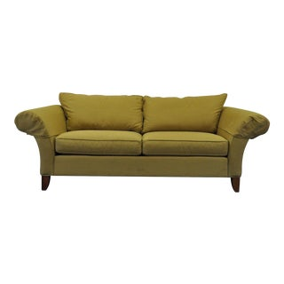 Contemporary Ethan Allen Usa Traditional Style Rolled Arm Sofa Couch For Sale