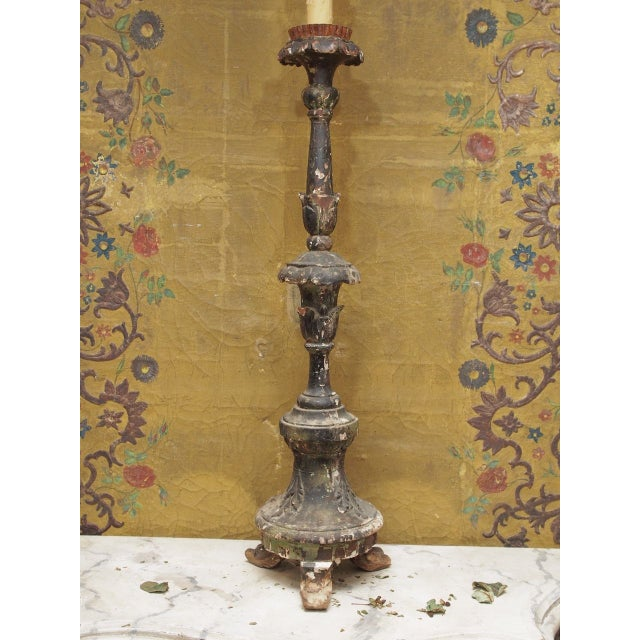 18th Century Italian Wired Candlestick - Image 2 of 4