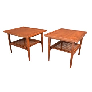 Vintage Kipp Stewart for Drexel Mid-Century Modern Side Tables - a Pair