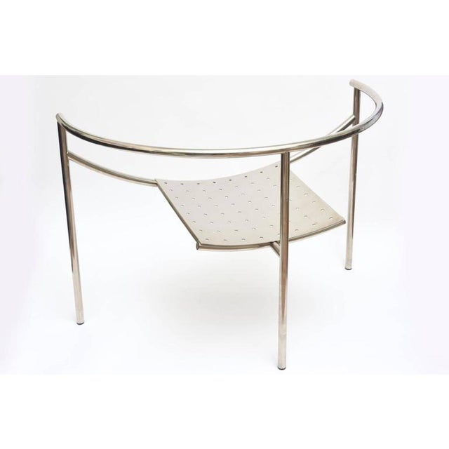 Chrome Vintage Mid Century Philippe Starck Doctor Sonderbar Chrome Chair For Sale - Image 7 of 10