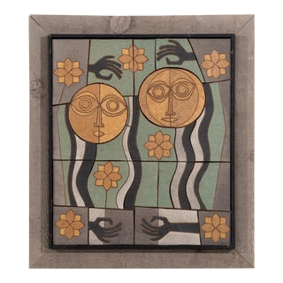 Clyde Burt Ceramic Wall Art For Sale