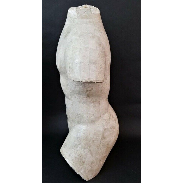 Modern Marquis Collection Of Beverly Hills Tessellated Stone Male Nude Torso For Sale - Image 3 of 7
