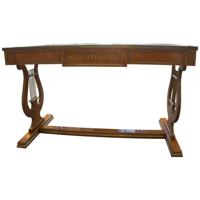 Brown Antique Tsarist Russia Library Table For Sale - Image 8 of 11
