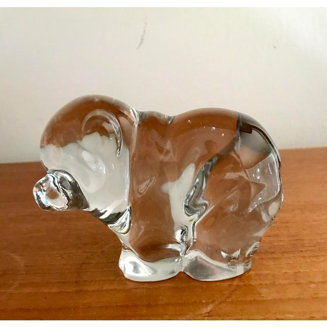 1970s Art Glass Crystal Bear Figure For Sale - Image 5 of 5