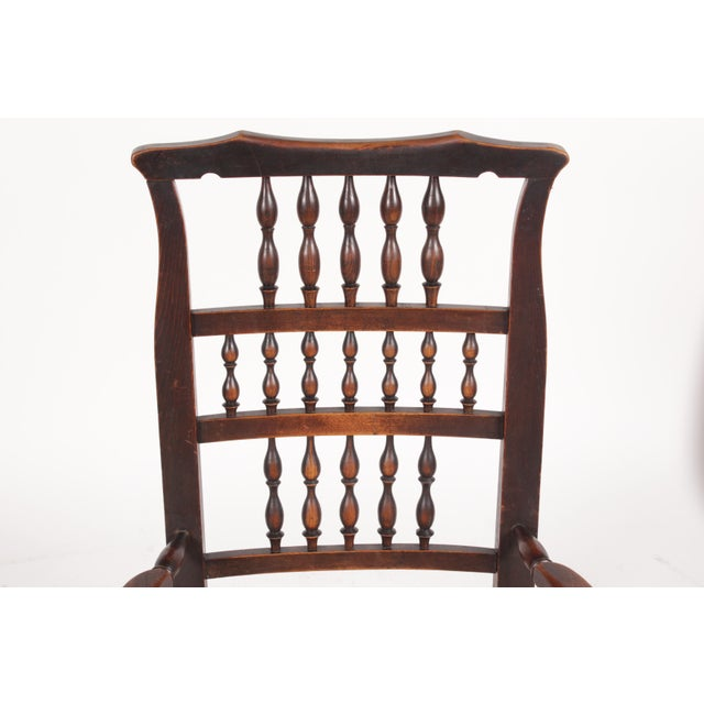 Antique Elizabethan-Style Spindle Chairs - A Pair - Image 7 of 11