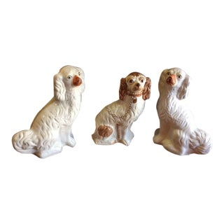 19th C. Staffordshire English Porcelain Dogs For Sale