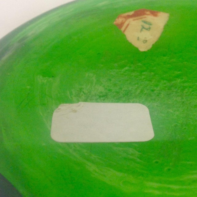 Signed Moser Fluted & Gilt Green Glass Vase - Image 4 of 4