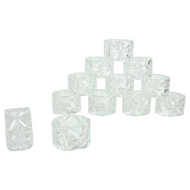 Crystal Napkin Rings - Set of 12 - Image 1 of 4