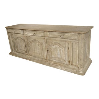 Late 17th Century Whitewashed Oak Enfilade From Burgundy, France For Sale