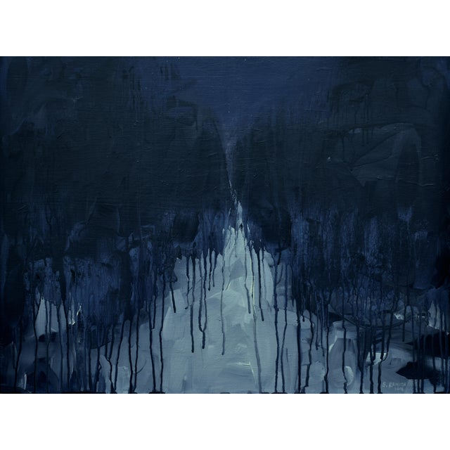"""Moonlit Snowy Path"", Contemporary Abstract Painting by Stephen Remick For Sale - Image 10 of 10"