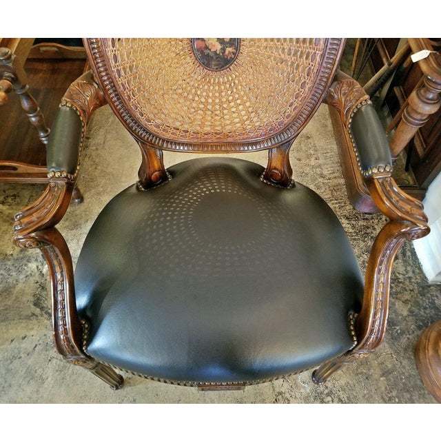 Federal French Bergere Chair by Theodore Alexander For Sale - Image 3 of 9