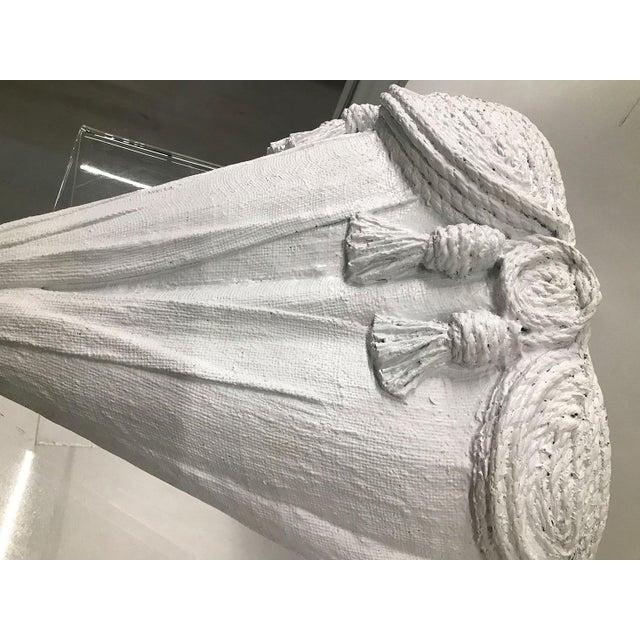 Vintage Raffia Covered Rope and Tassel Shelf For Sale In Atlanta - Image 6 of 10