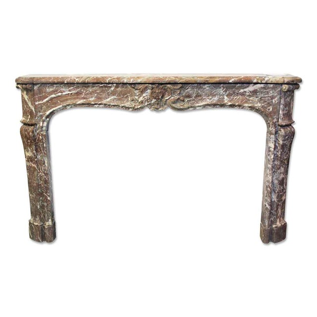 French Louis XV Antique Marble Mantel For Sale - Image 10 of 10