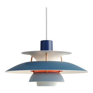 Poul Henningsen Blue PH5 Mini Pendant for Louis Poulsen For Sale