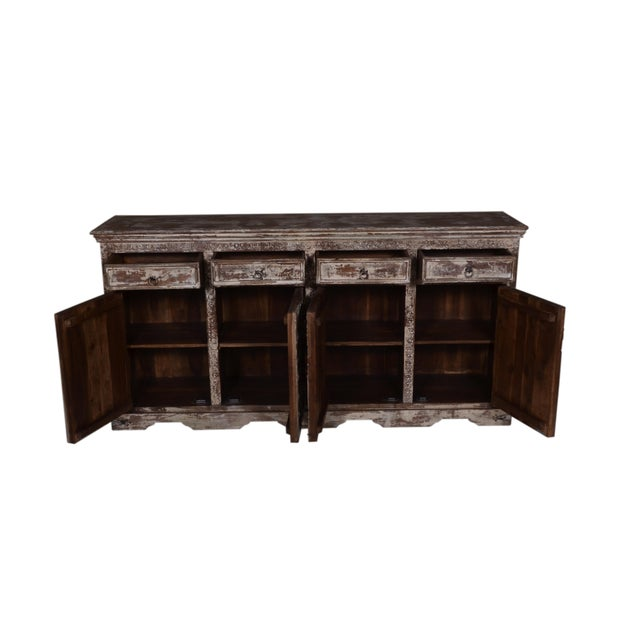 Rustic Rustic Ambre Wood Sideboard For Sale - Image 3 of 4
