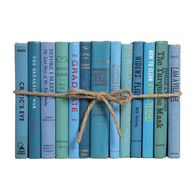 Midcentury Island ColorPak - Decorative Books in Shades of Blue For Sale