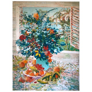Floral Still Life by D. Poole Impressionist Oil Painting For Sale