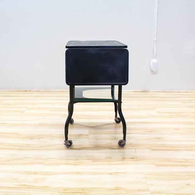 Black Industrial Bar Cart - Image 5 of 9