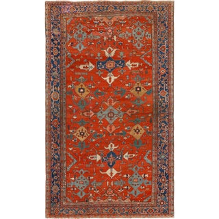 Large Antique Serapi Persian Red Rug - 11′2″ × 19′2″ For Sale
