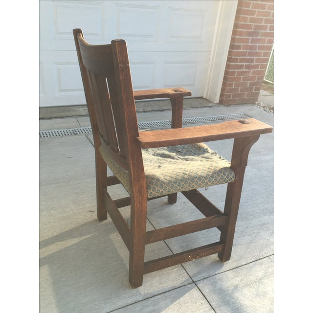 Early 19th-C. Gustav Stickley Armchair - Image 5 of 11