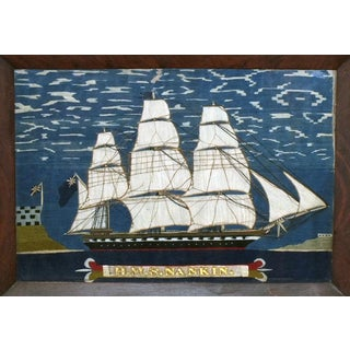 Sailor's Woolwork of Hms Nankin, Circa 1865.