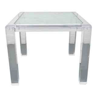 Acrylic and Glass Occasional Table by Les Prismatiques For Sale