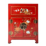 Image of Asian Style Shanxi Handpainted Motif End Table For Sale
