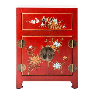 Asian Style Shanxi Handpainted Motif End Table For Sale