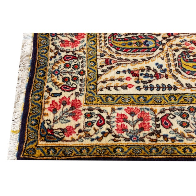 "Vintage Persian Rug, 4'5"" X 7'0"" For Sale - Image 4 of 8"