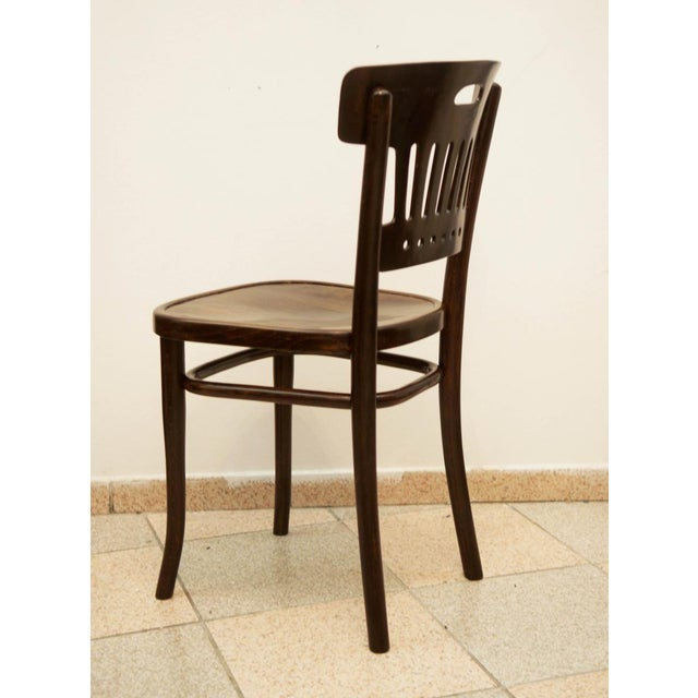 Traditional Vintage beech & plywood chair by Thonet For Sale - Image 3 of 6