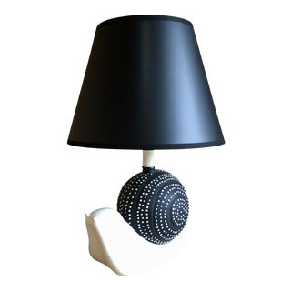 Mid-Century Ceramic Snail Lamp For Sale