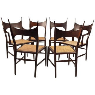 Set of Eight Edward Wormley 5580 Dining Chairs for Dunbar, 1950s For Sale