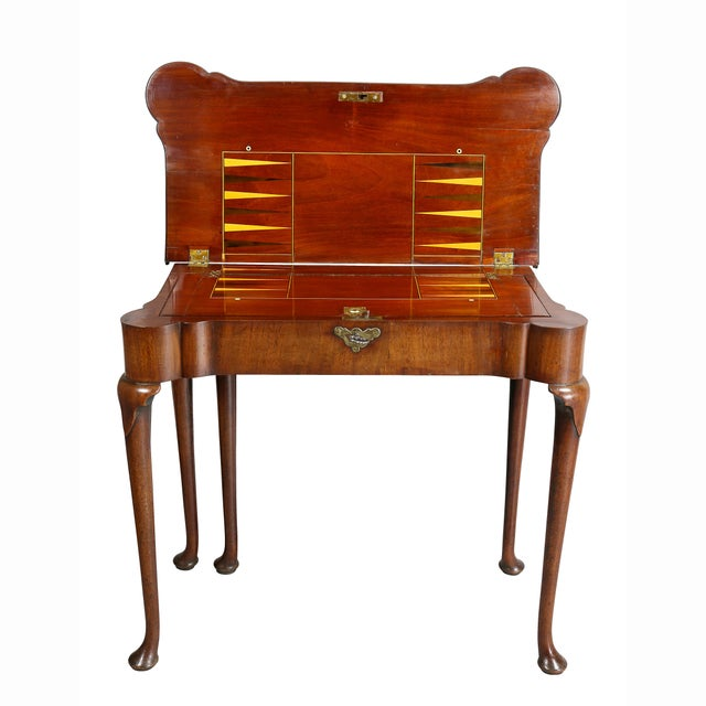George II Mahogany Triple Top Games Table For Sale - Image 4 of 12
