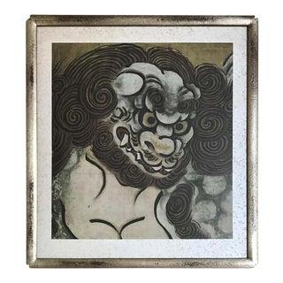 Woodblock of Karashishi by Kano Eitoku For Sale