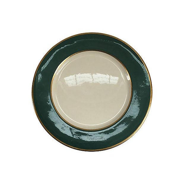 Vintage Mixed Gold & Green Place Setting - Set of 5 For Sale In Boston - Image 6 of 9