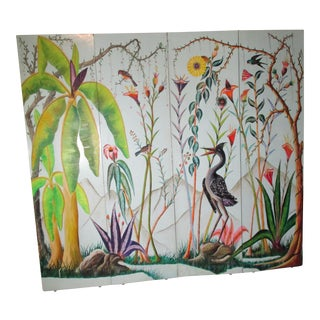 1970s Vintage Adam Leoneus and Fernand Pierre Folding Floor Screen For Sale