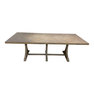 Adams Gray Trestle Base Dining Table For Sale