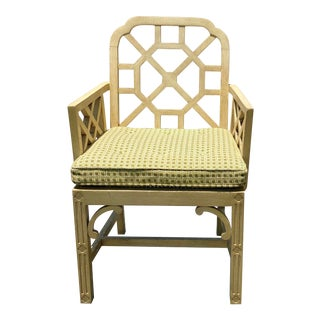 Hollywood Regency Erwin Lambeth Fretwork Chair For Sale