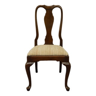 Ethan Allen Georgian Court Solid Cherry Splat Back Side Chair For Sale