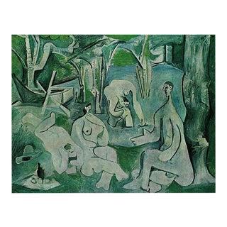 """Picasso Parisian Photogravure After """"Le Déjeuner Sur L'Herbe"""" 1971 For Sale"""