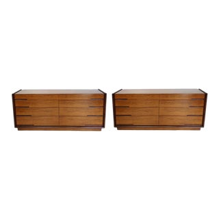 Pair of Edmund Spence Long Low Double Dressers For Sale