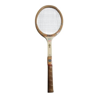 "1970s Vintage Wilson Sports ""Chris Evert Classic"" Wooden Tennis Racket For Sale"