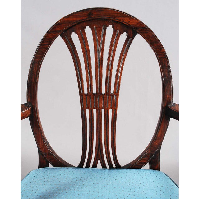 19th Century 19th Century Rosewood Armchairs - a Pair For Sale - Image 5 of 9